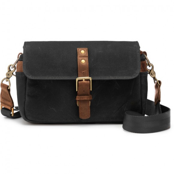 Ona Bowery Waxed Canvas Camera Bag (Black) ONA-5-014BL