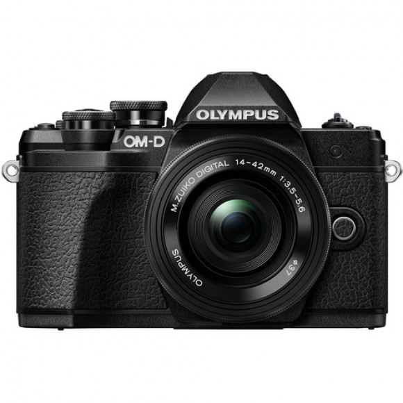 Olympus OM-D E-M10 Mark III Mirrorless Micro Four Thirds Digital Camera with 14-42mm EZ Lens (Black) with FREE Bag Included