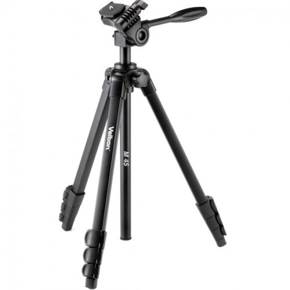 Velbon M45 4-Section Full Size Tripod with 3-Way Pan Head and QR Plate