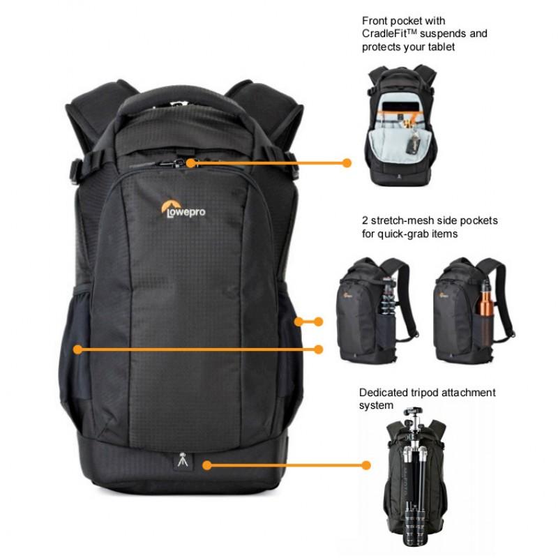 Lowepro Flipside 200 AW II Camera Backpack in Black