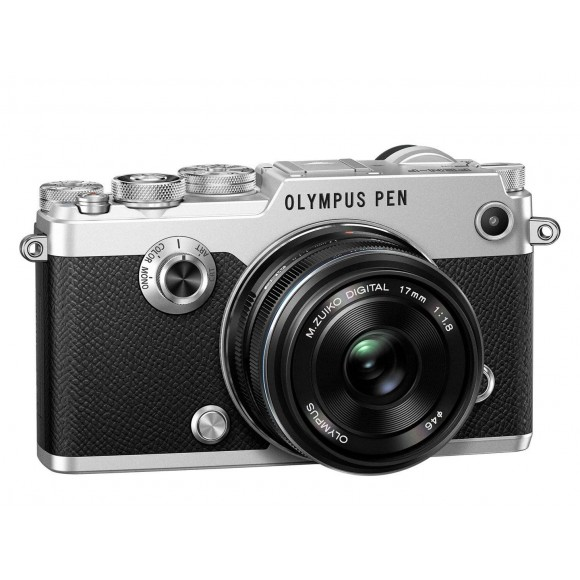 Olympus Pen F Mirrorless Micro Four Thirds Camera with M.Zuiko 17mm f/1.8 Lens and FREE 25mm F1.8 Lens