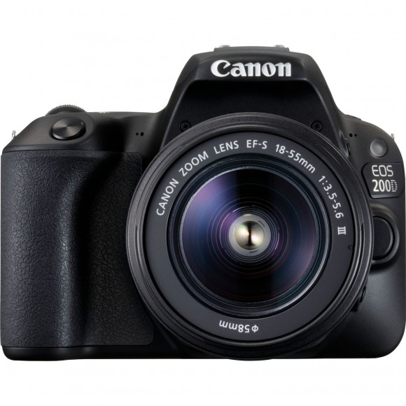 Canon EOS 200D Black with EF-S 18-55mm f/3.5-5.6 III Lens