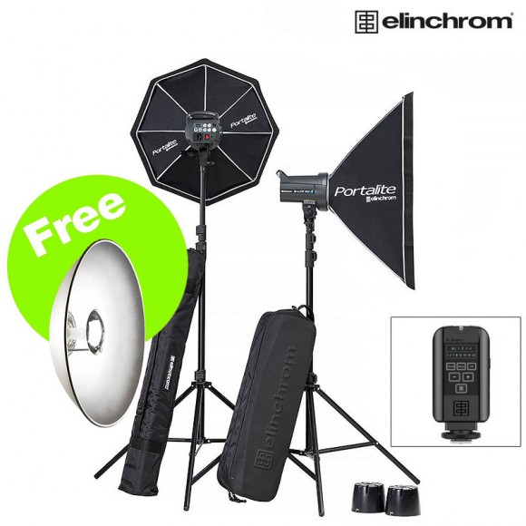 Elinchrom D-Lite RX4&4 Softbox kit & FREE 44cm Reflector EL20839.2