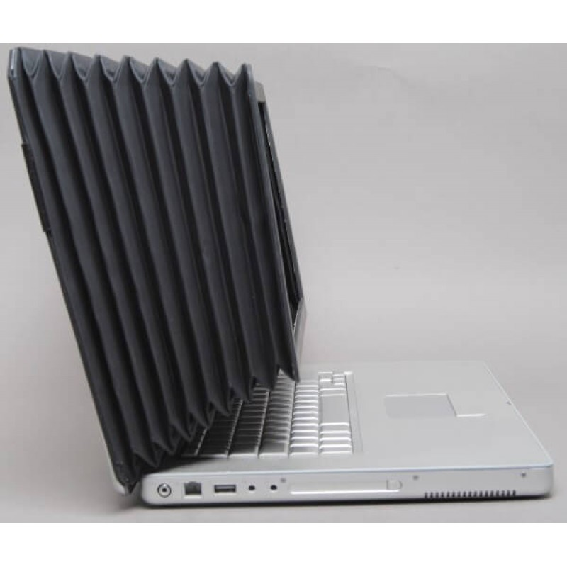 Camera Bellows Laptop Screen Shade Silver 17 inch