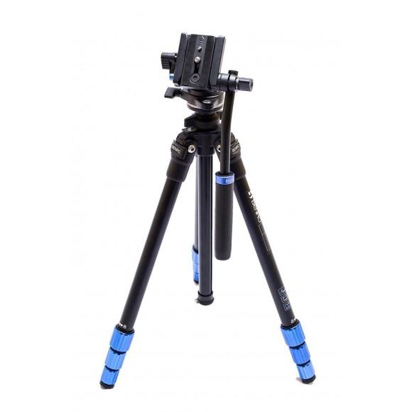 Benro Slim Aluminium Video Tripod with S2H Fluid Video Head TSL08AS2CSH