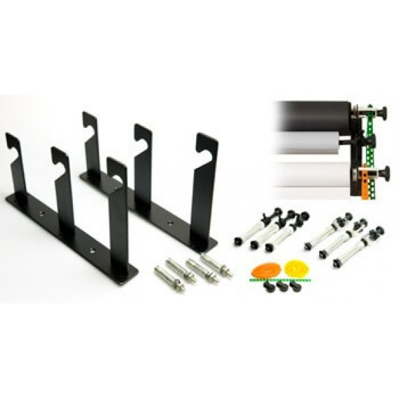 Interfit 312 Support kit to Wall Mount Three Paper Background Rolls INT312