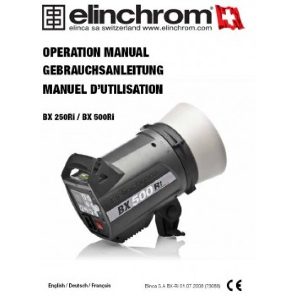 Elinchrom 250 BX-Ri and 500 BX-Ri User manual download