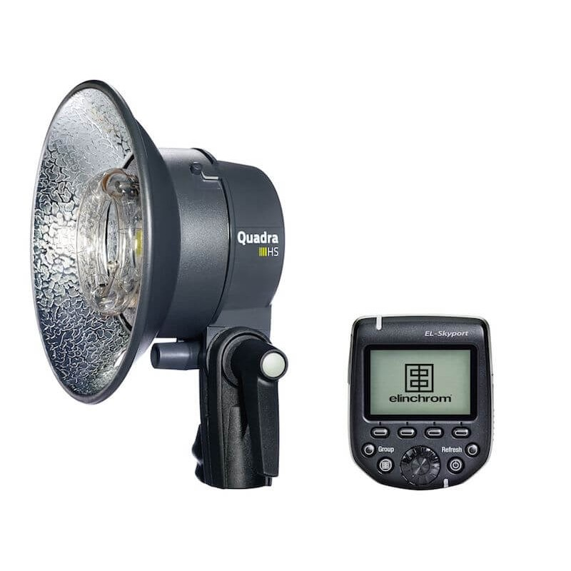 Elinchrom 500 Studio Lighting Kit: Elinchrom Ranger ELB 400 HS Head + HS Transmitter Upgrade